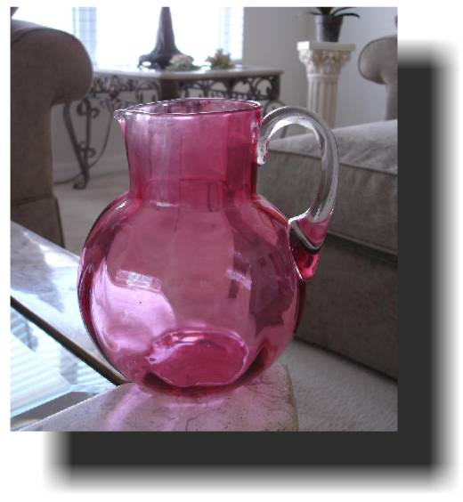 Victorian Cranberry Water Pitcher
