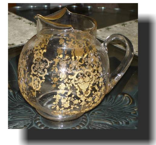 Lotus decorated Water Pitcher