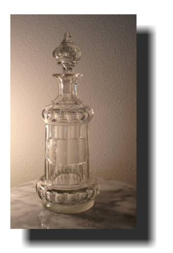 Brilliant Cut and Engraved Brandy Decanter